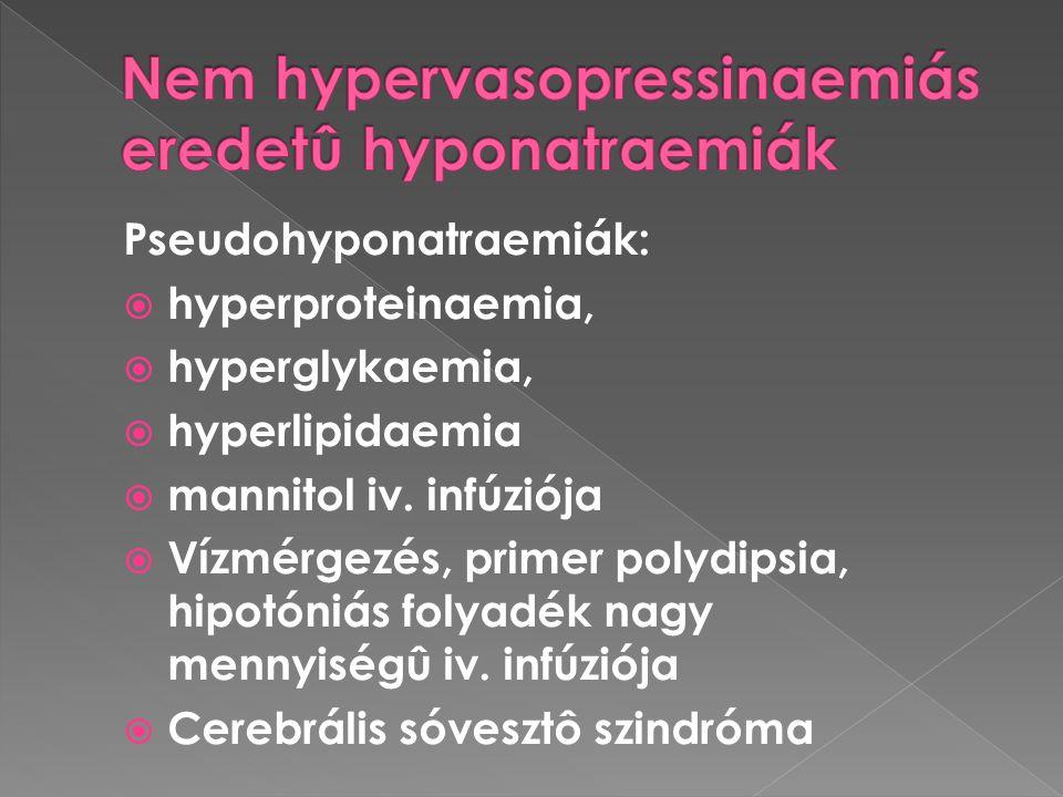 Nem hypervasopressinaemiás eredetû hyponatraemiák