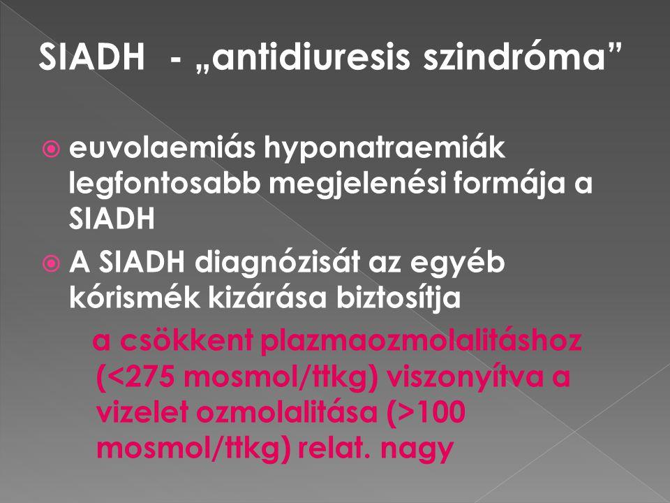 """SIADH - """"antidiuresis szindróma"""
