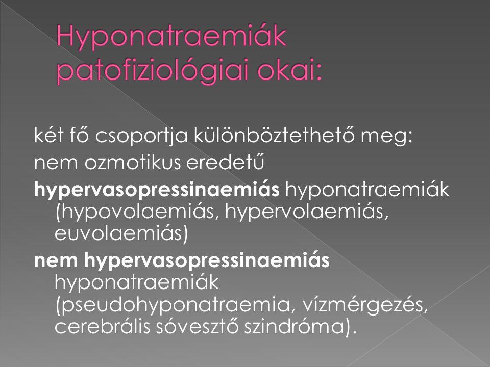 Hyponatraemiák patofiziológiai okai: