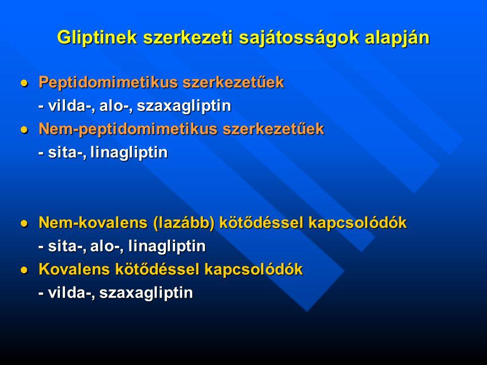 Gliptinek szerkezeti sajátosságok alapján