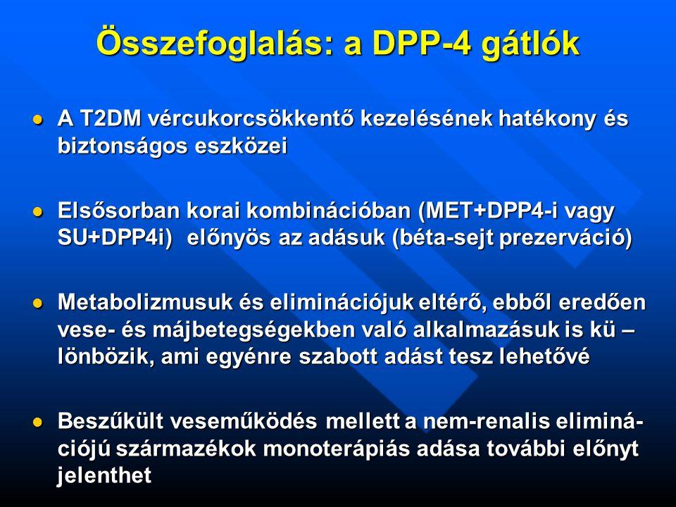 Összefoglalás: a DPP-4 gátlók
