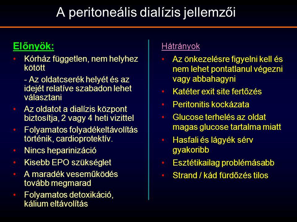 A peritoneális dialízis jellemzői