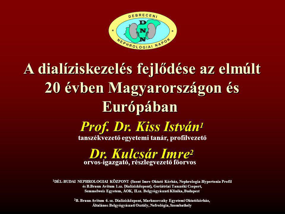 A dialíziskezelés fejlődése az elmúlt 20 évben Magyarországon és