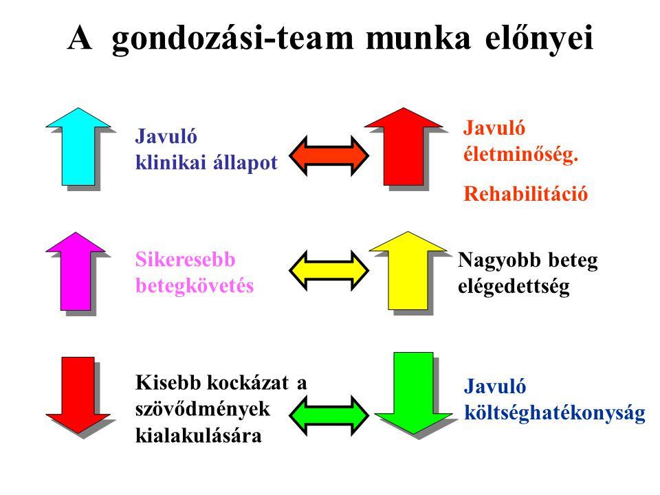 A gondozási-team munka előnyei