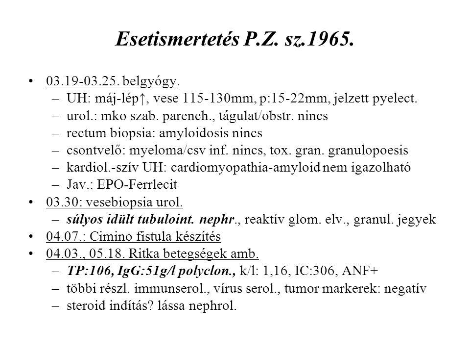 Esetismertetés P.Z. sz.1965. 03.19-03.25. belgyógy.