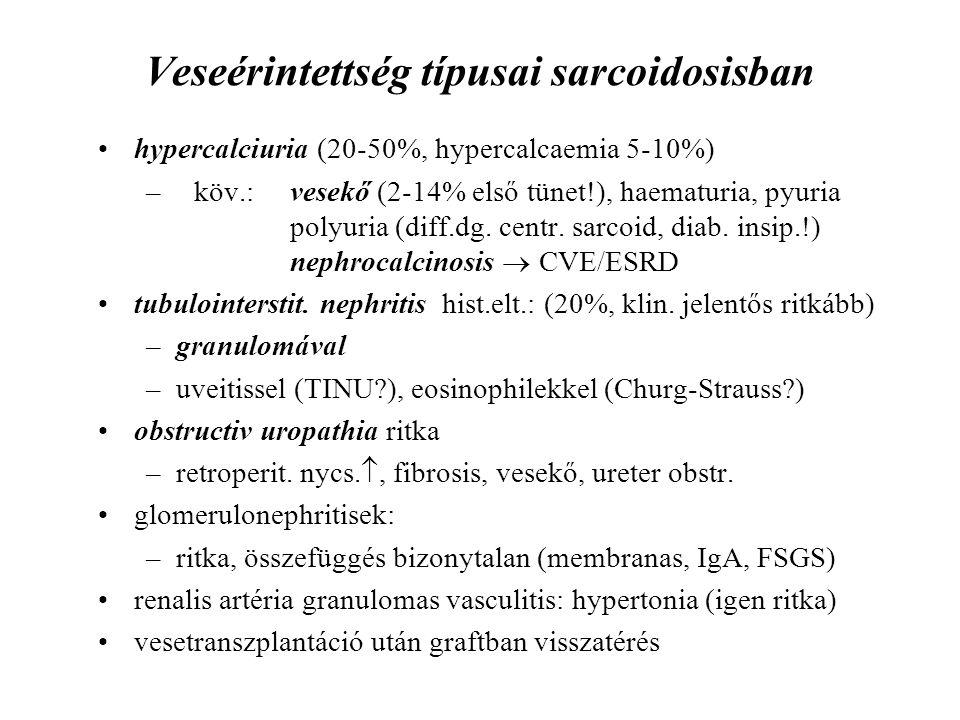 Veseérintettség típusai sarcoidosisban