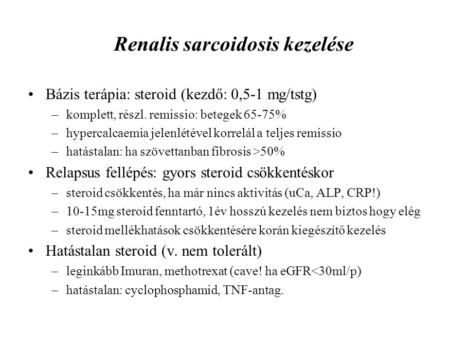Renalis sarcoidosis kezelése