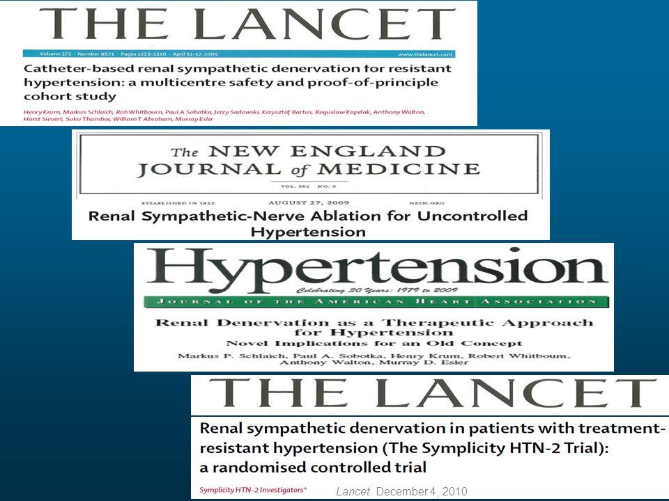 Lancet. December 4, 2010.