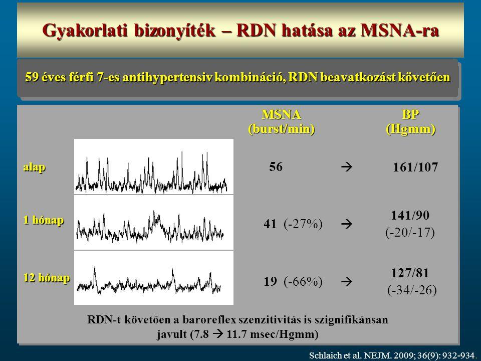 Gyakorlati bizonyíték – RDN hatása az MSNA-ra