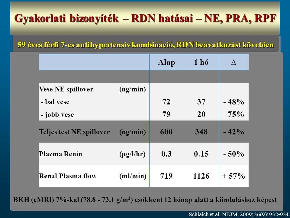 Gyakorlati bizonyíték – RDN hatásai – NE, PRA, RPF