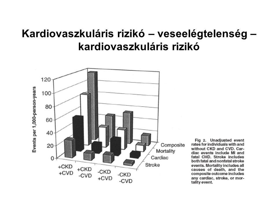 Kardiovaszkuláris rizikó – veseelégtelenség – kardiovaszkuláris rizikó