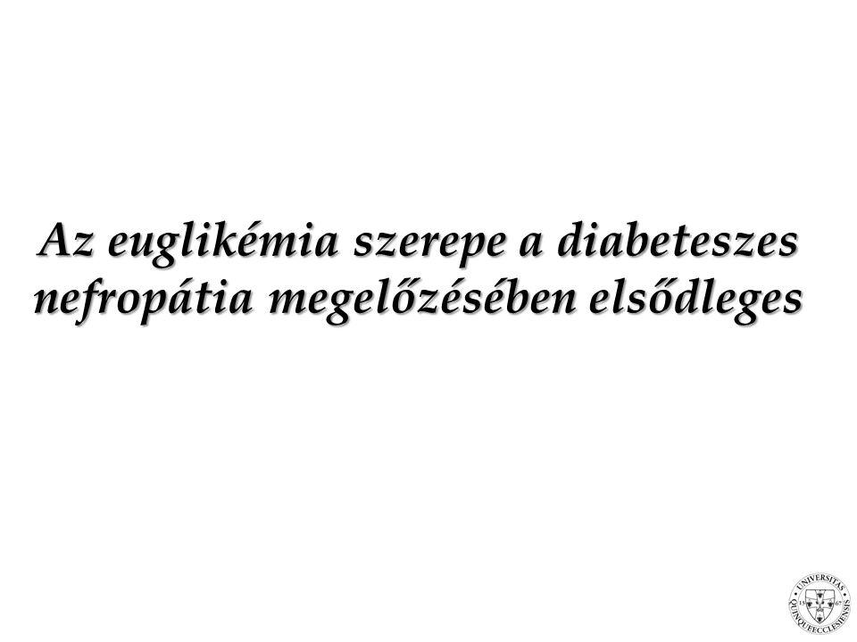 Az euglikémia szerepe a diabeteszes nefropátia megelőzésében elsődleges