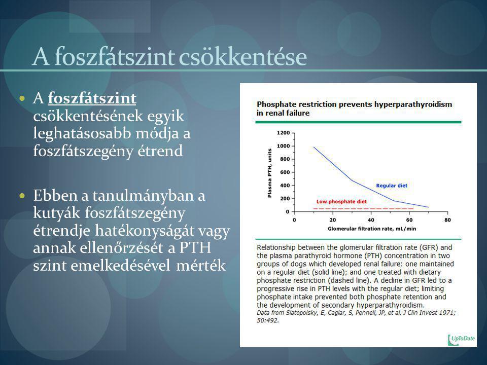A foszfátszint csökkentése