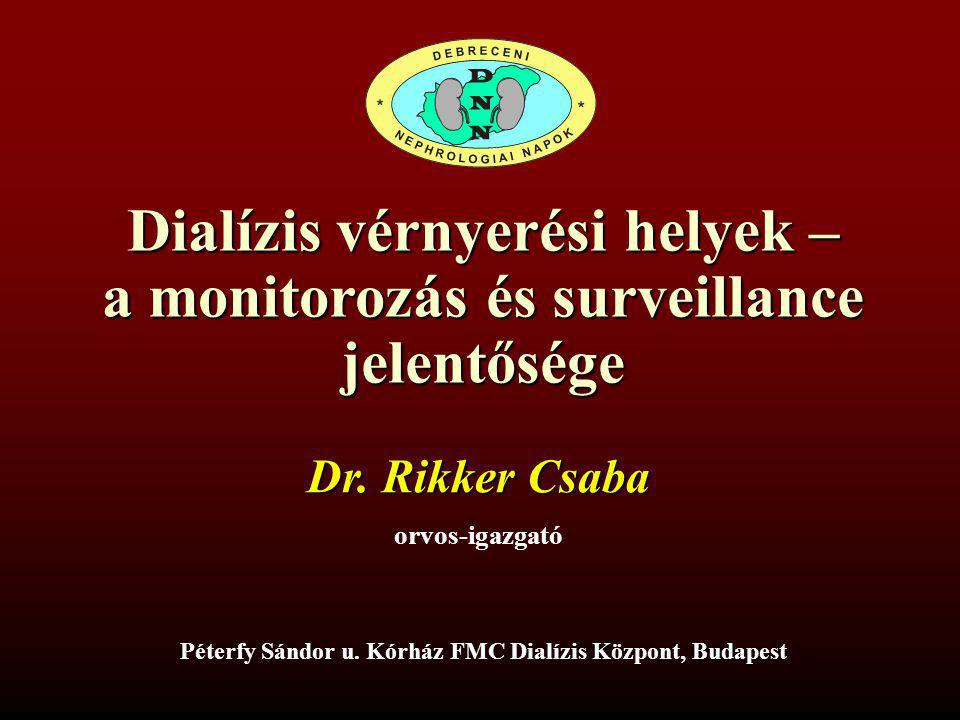 Dialízis vérnyerési helyek – a monitorozás és surveillance jelentősége
