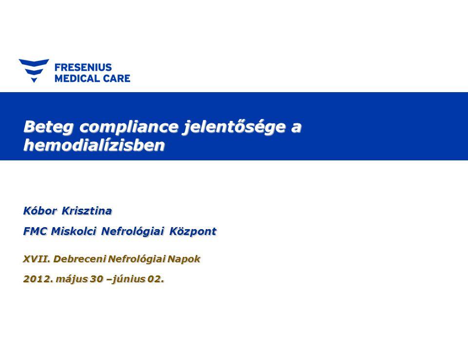 Beteg compliance jelentősége a hemodialízisben