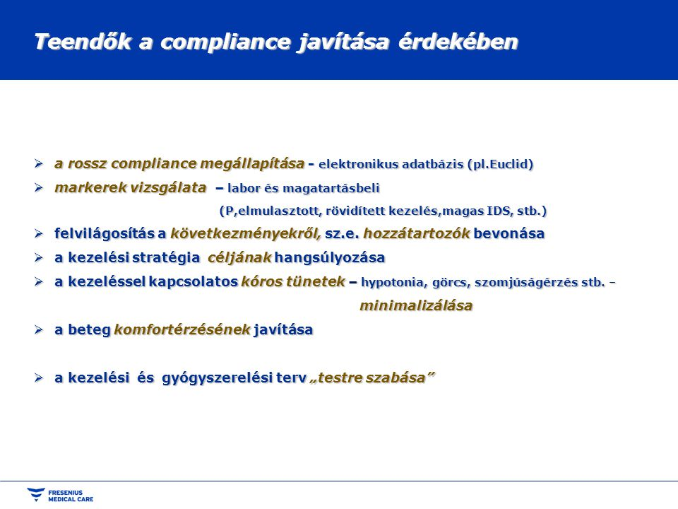 Teendők a compliance javítása érdekében