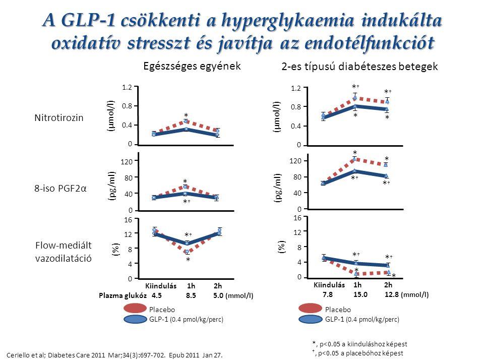 A GLP-1 csökkenti a hyperglykaemia indukálta oxidatív stresszt és javítja az endotélfunkciót