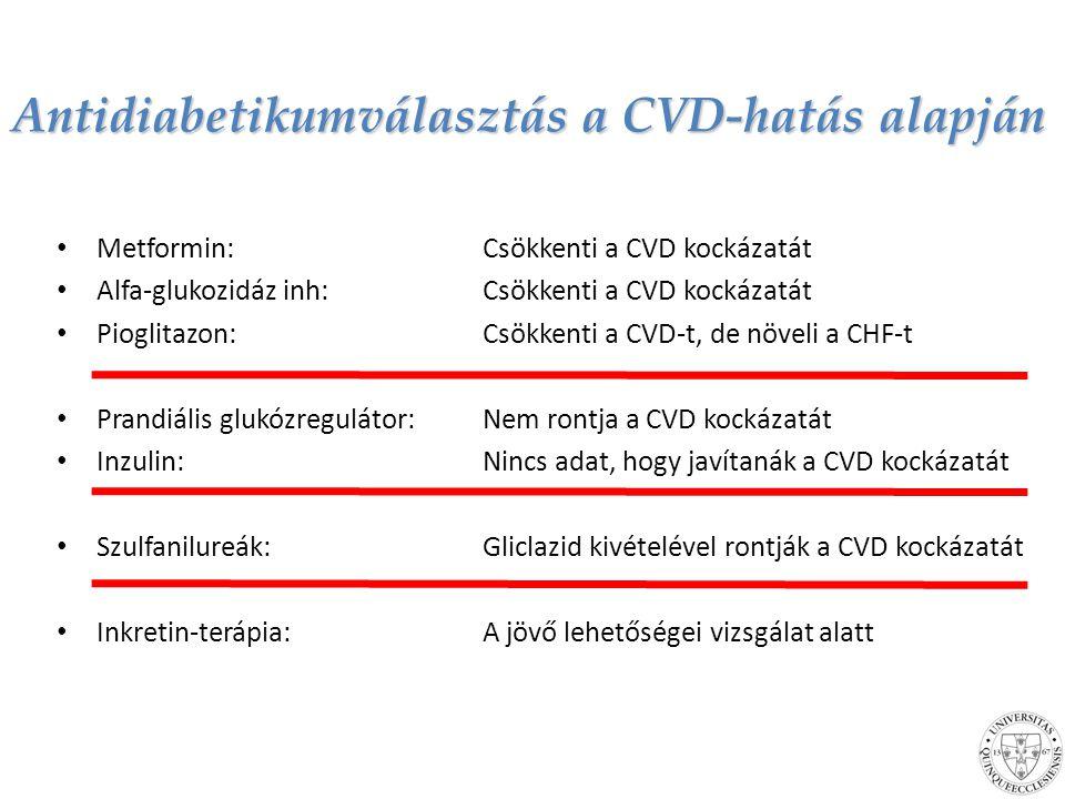 Antidiabetikumválasztás a CVD-hatás alapján