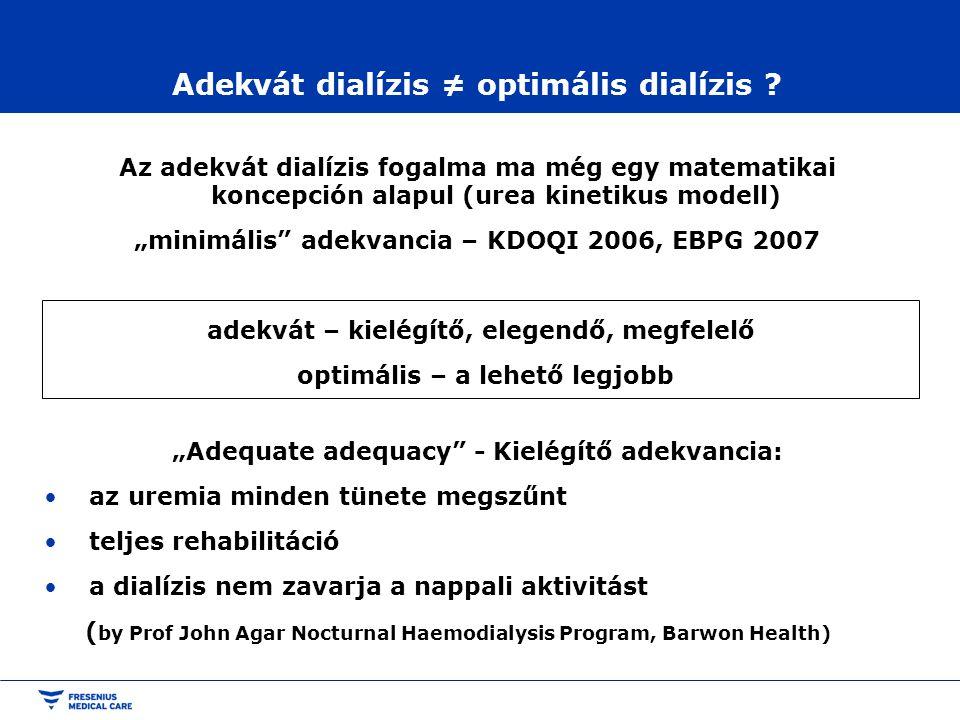 Adekvát dialízis ≠ optimális dialízis