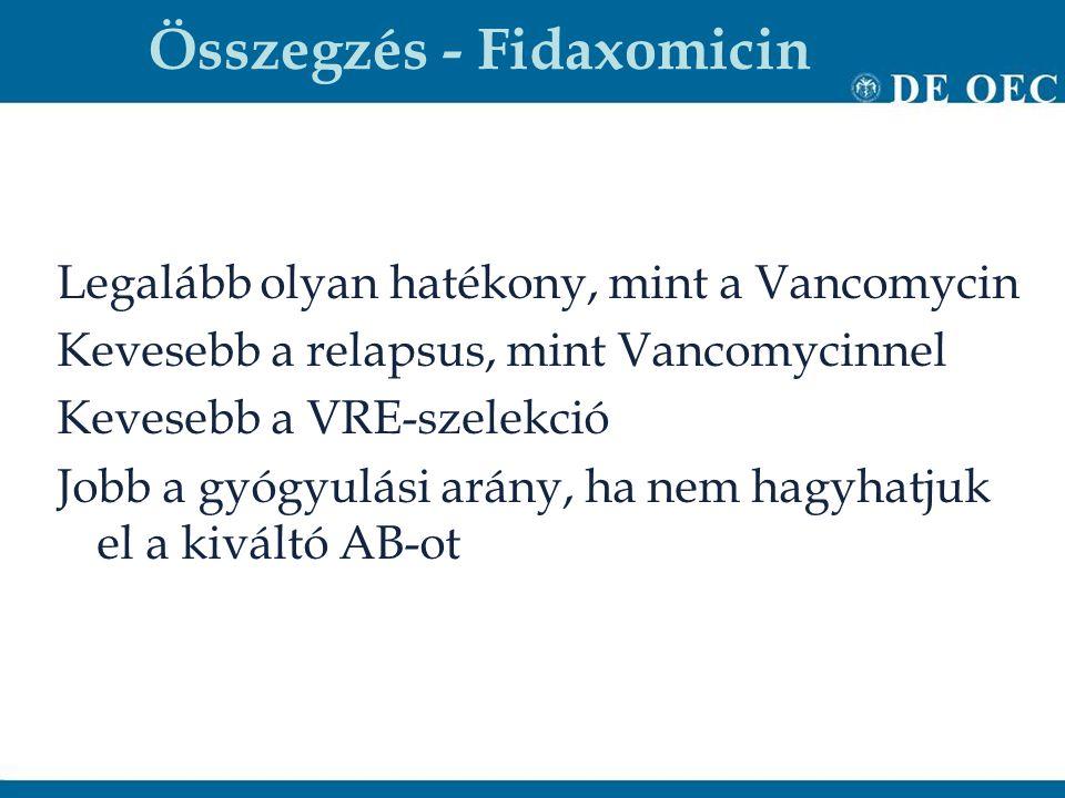 Összegzés - Fidaxomicin