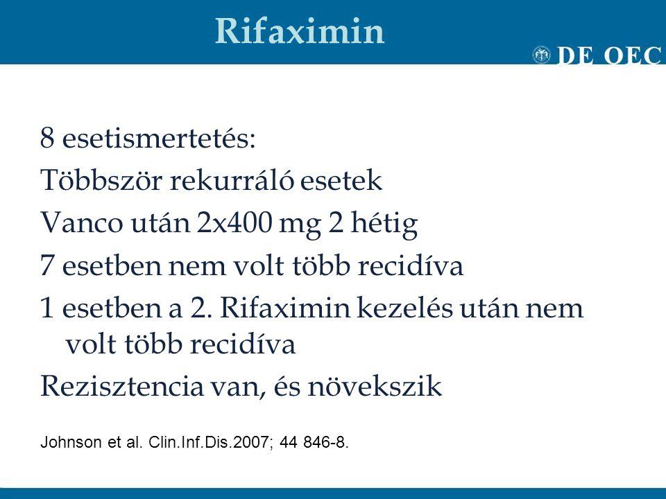 Rifaximin 8 esetismertetés: Többször rekurráló esetek