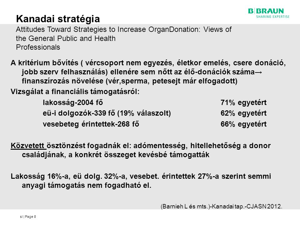 Kanadai stratégia Attitudes Toward Strategies to Increase OrganDonation: Views of the General Public and Health.