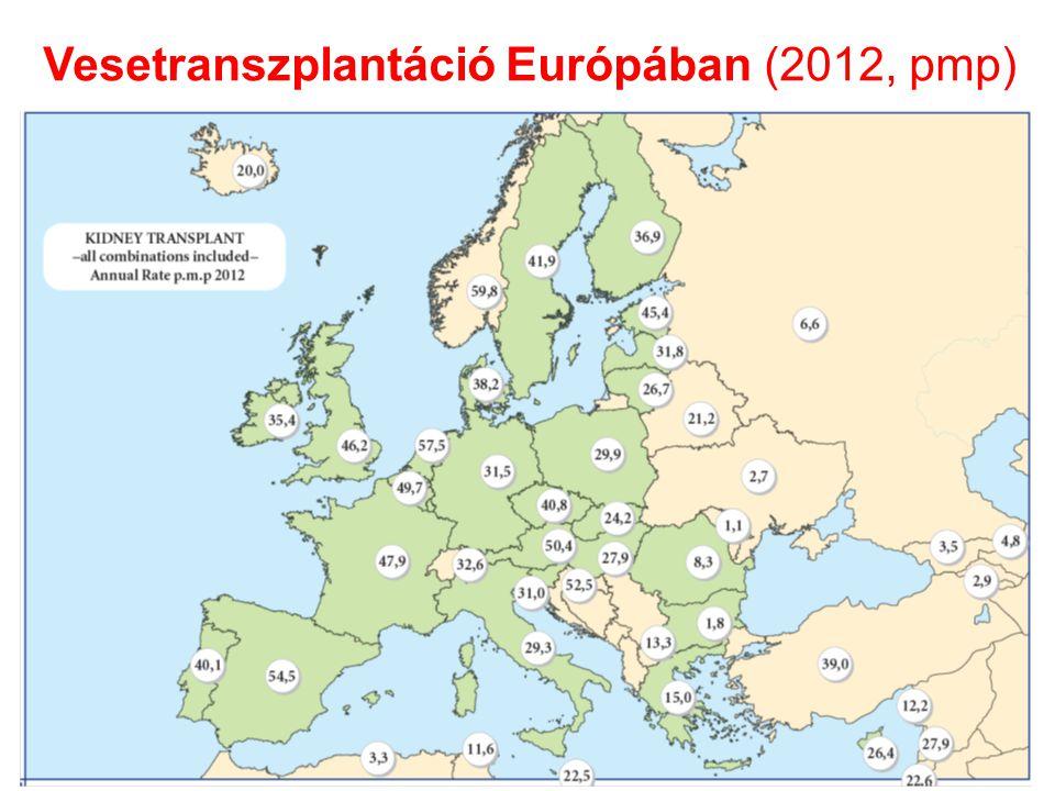 Vesetranszplantáció Európában (2012, pmp)