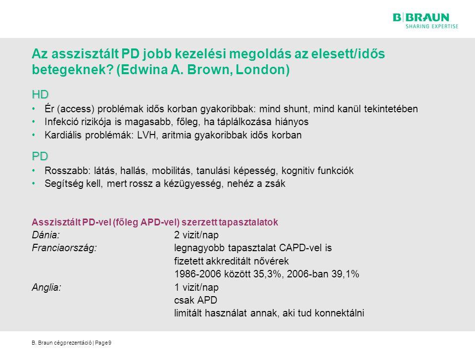 Az asszisztált PD jobb kezelési megoldás az elesett/idős betegeknek