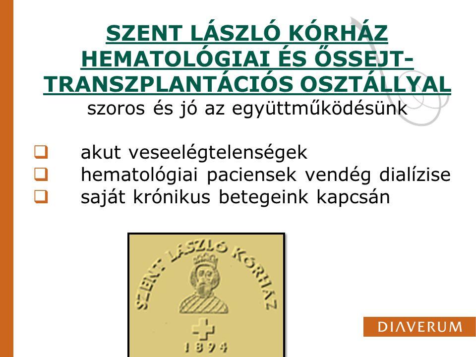 SZENT LÁSZLÓ KÓRHÁZ HEMATOLÓGIAI ÉS ŐSSEJT-TRANSZPLANTÁCIÓS OSZTÁLLYAL