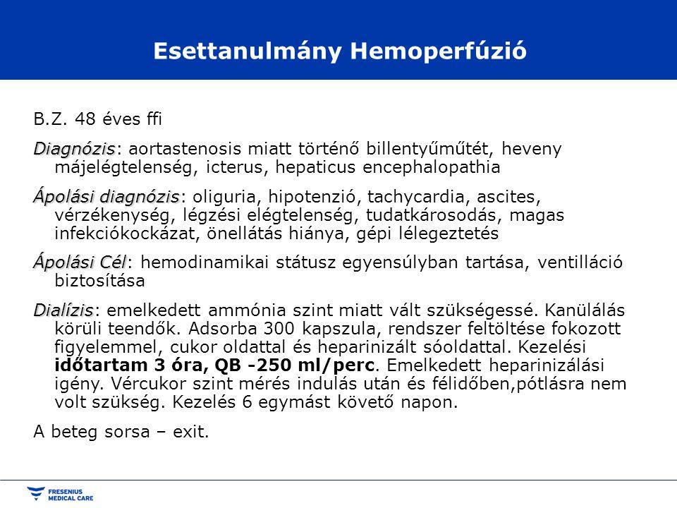 Esettanulmány Hemoperfúzió