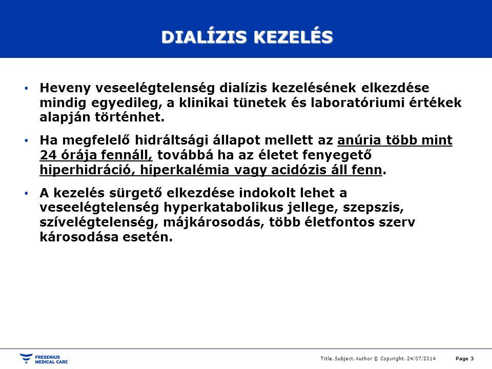 DIALÍZIS KEZELÉS
