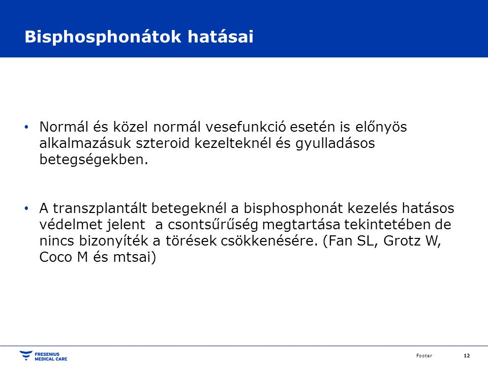 Bisphosphonátok hatásai