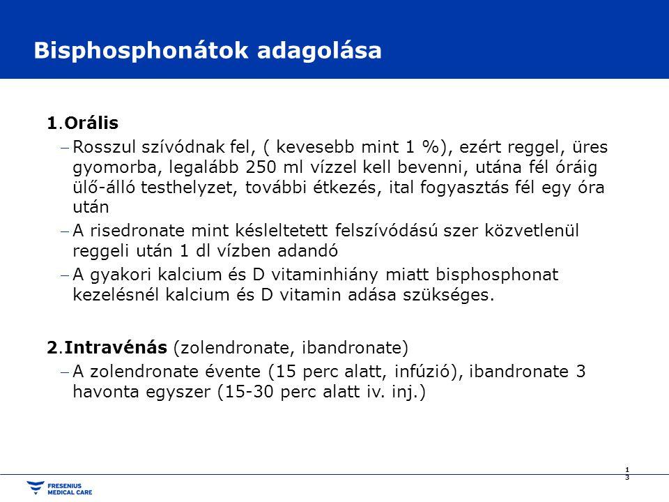 Bisphosphonátok adagolása