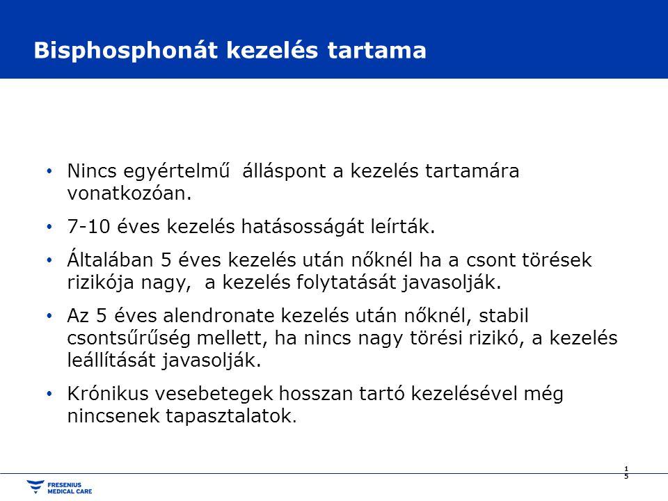 Bisphosphonát kezelés tartama