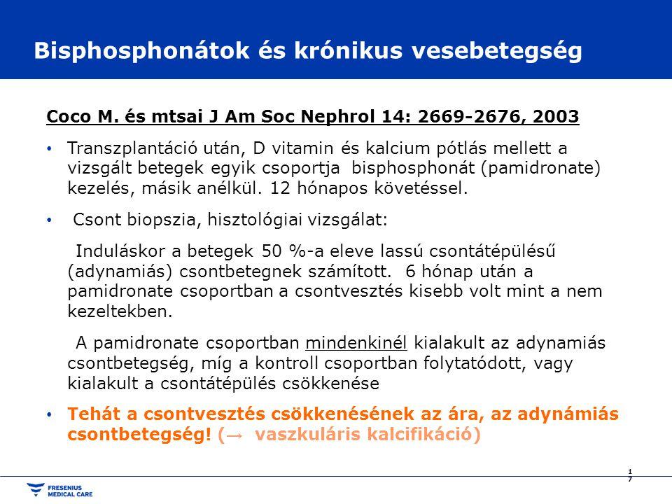 Bisphosphonátok és krónikus vesebetegség