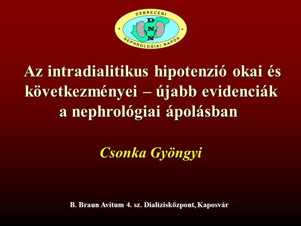 Az intradialitikus hipotenzió okai és