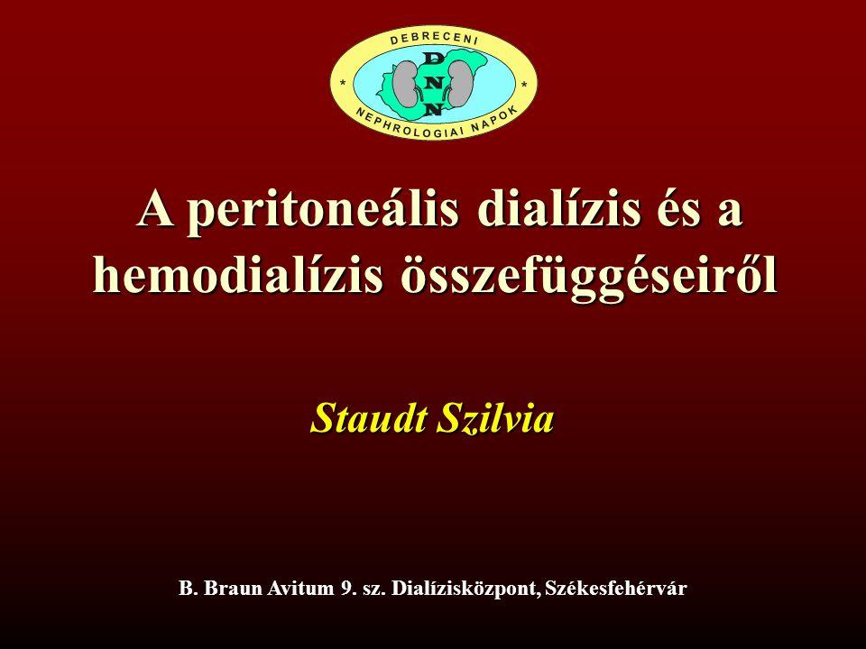 A peritoneális dialízis és a hemodialízis összefüggéseiről