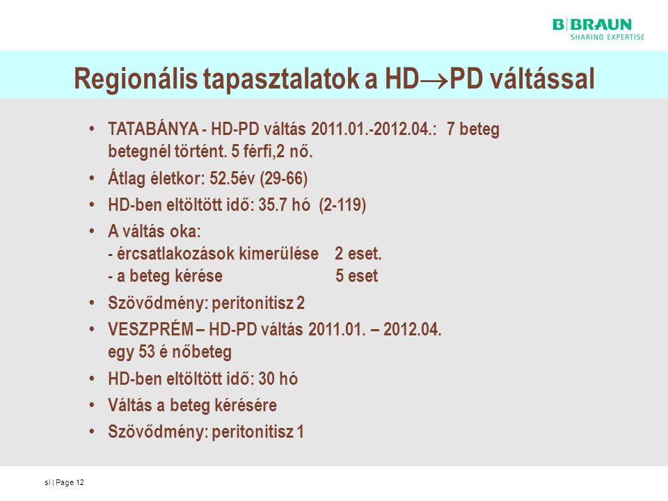 Regionális tapasztalatok a HDPD váltással