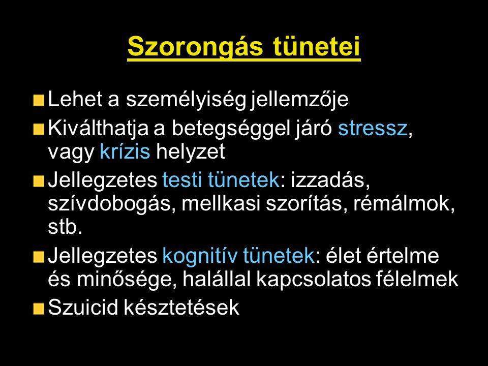 Szorongás tünetei Lehet a személyiség jellemzője