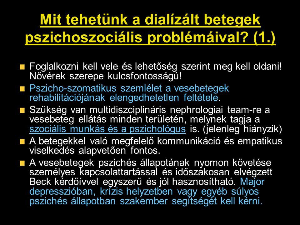 Mit tehetünk a dialízált betegek pszichoszociális problémáival (1.)