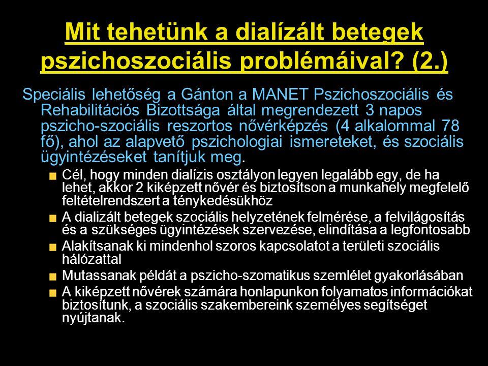 Mit tehetünk a dialízált betegek pszichoszociális problémáival (2.)