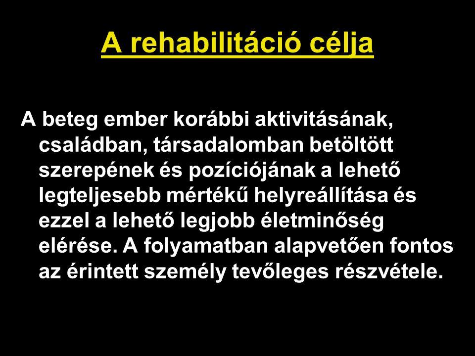 A rehabilitáció célja
