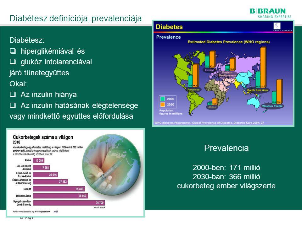 Diabétesz definíciója, prevalenciája