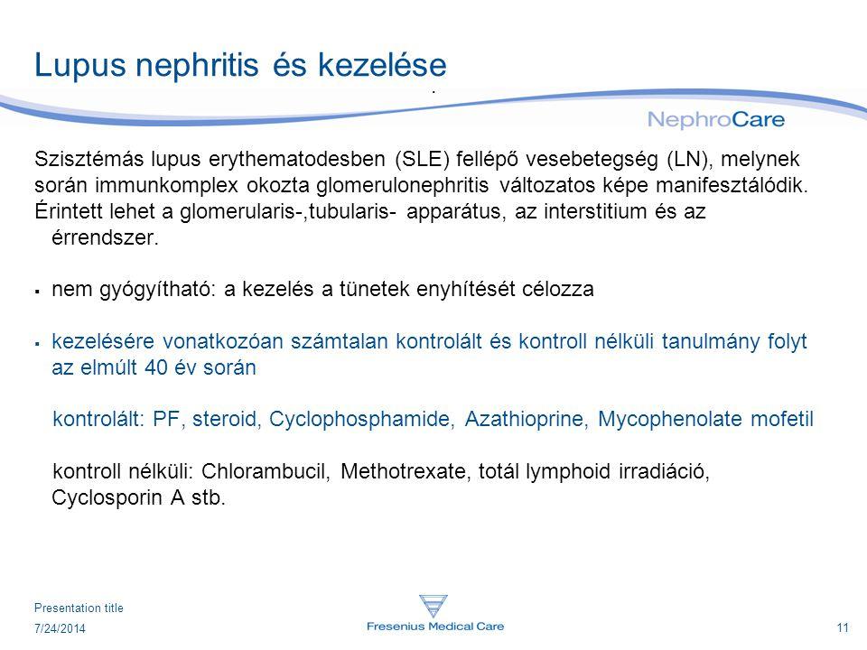 Lupus nephritis és kezelése