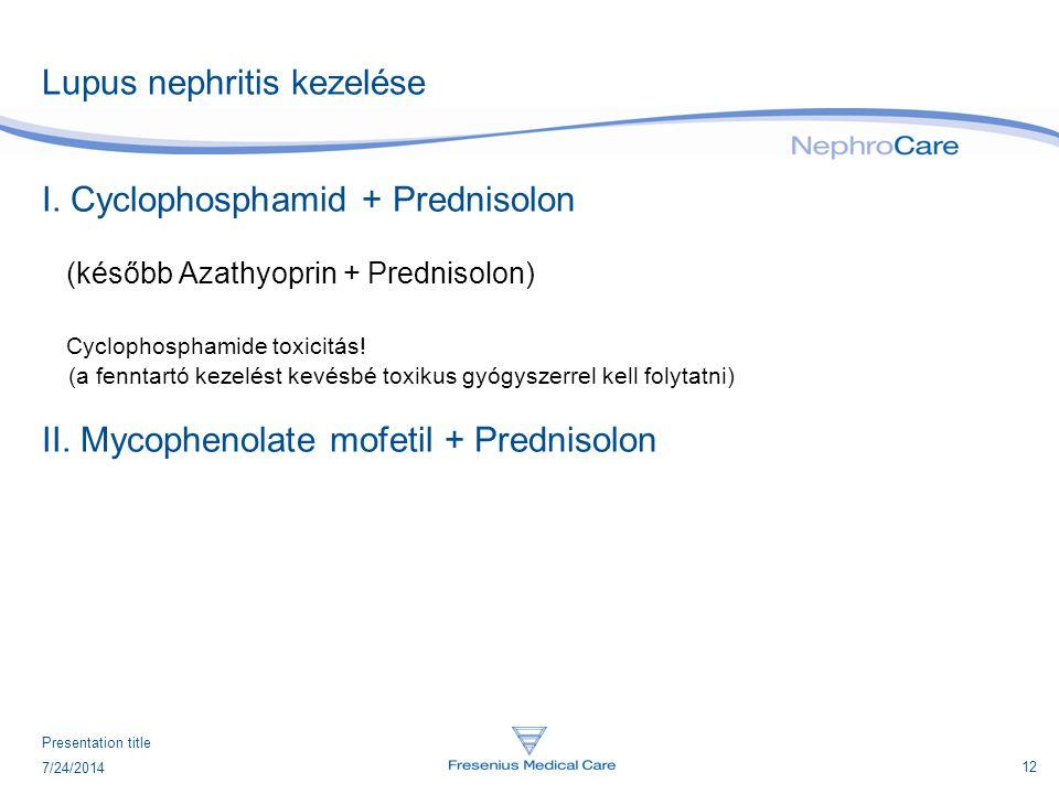 Lupus nephritis kezelése