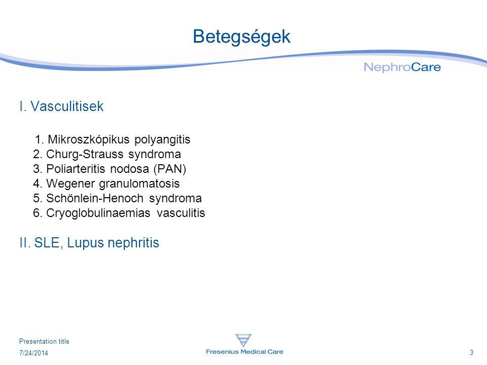 Betegségek I. Vasculitisek 1. Mikroszkópikus polyangitis