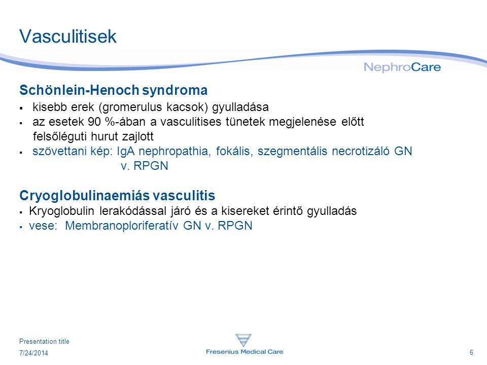 Vasculitisek Schönlein-Henoch syndroma