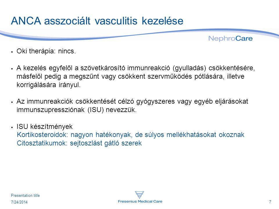 ANCA asszociált vasculitis kezelése
