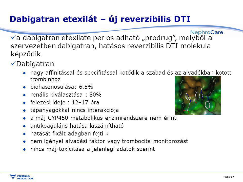 Dabigatran etexilát – új reverzibilis DTI