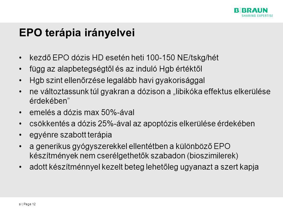 EPO terápia irányelvei